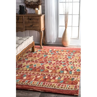Massanutten Rust Area Rug Rug Size: Rectangle 5 x 75