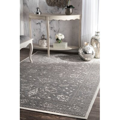 Chadbourne Dark Gray Area Rug Rug Size: Rectangle 76 x 96