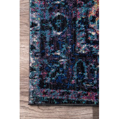 Martell Purple Area Rug Rug Size: 7'10