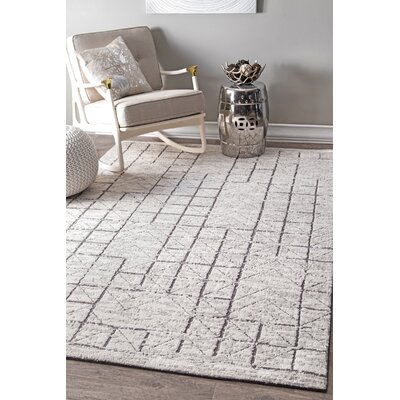 Boaz Gray Area Rug Rug Size: Rectangle 5 x 8