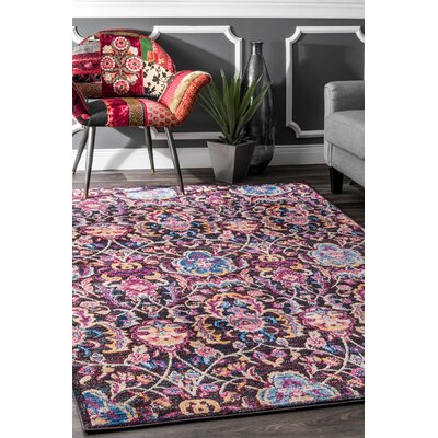 Maynard Blue/Pink Area Rug Rug Size: Rectangle 76 x 96