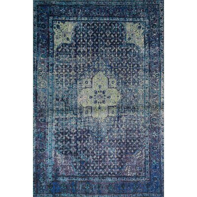 Marshfield Navy/Green Area Rug Rug Size: 710 x 112