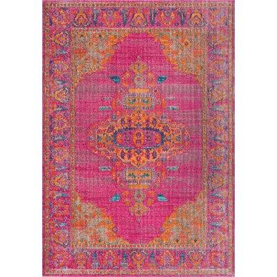Poythress Pink Area Rug Rug Size: 4 x 6