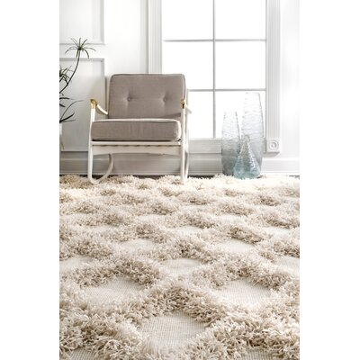 Heloise Ivory Area Rug Rug Size: Rectangle 76 x 96