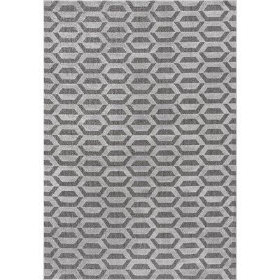 Ellett Dark Gray Area Rug Rug Size: 5 x 8