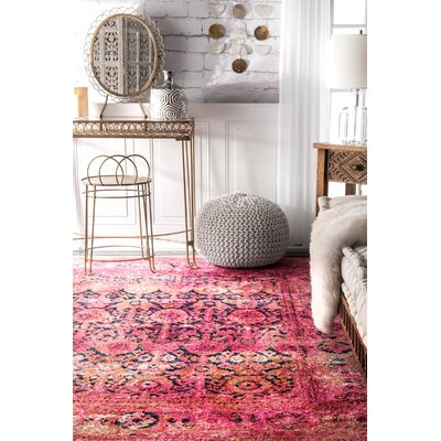 Max Blush Area Rug Rug Size: Rectangle 76 x 96