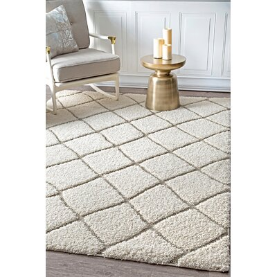 Potter Cream Area Rug Rug Size: Rectangle 53 x 76