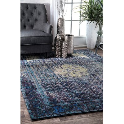 Marshfield Navy/Green Area Rug Rug Size: Rectangle 53 x 78
