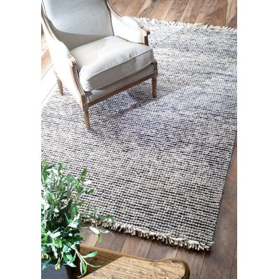 Niraj Hand-Woven Wool Silver Area Rug Rug Size: Rectangle 5' x 8'