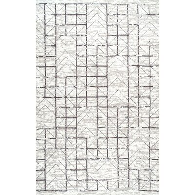 Boaz Gray Area Rug Rug Size: 76 x 96