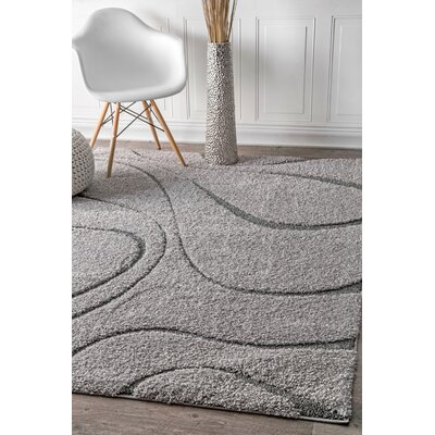 Marren Dark Gray Area Rug Rug Size: 53 x 76
