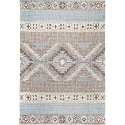 Laguna Gray/Pale Brown Area Rug Rug Size: 710 x 112
