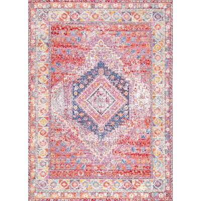 Cashion Red/Beige Area Rug Rug Size: 710 x 1010