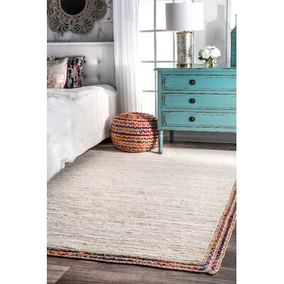 Carlisle Hand-Woven Ivory Area Rug Rug Size: Rectangle 76 x 96