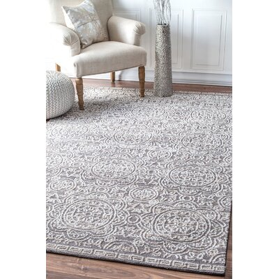 Oz Gray Area Rug Rug Size: Rectangle 76 x 96