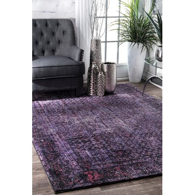 Marston Dark Purple Area Rug Rug Size: Rectangle 9 x 12