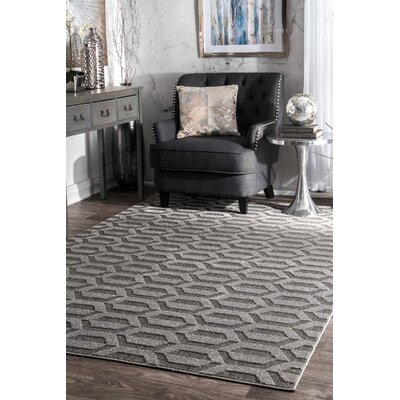 Ellett Dark Gray Area Rug Rug Size: Rectangle 5 x 8