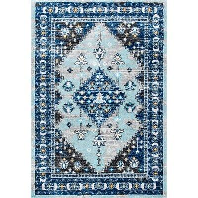 Alejo Blue Area Rug Rug Size: 53 x 76