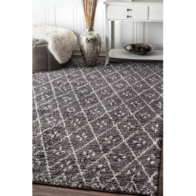 Fearon Hand-Tufted Gray Area Rug Rug Size: Rectangle 76 x 96
