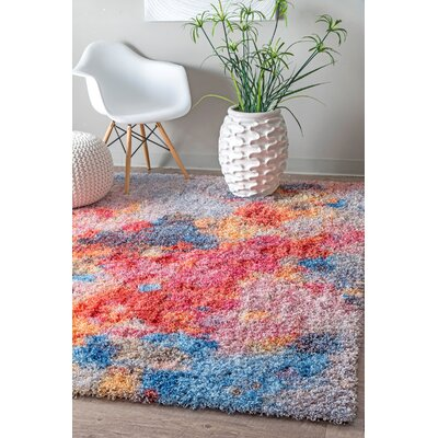 Brimer Red/Blue Area Rug Rug Size: 53 x 76