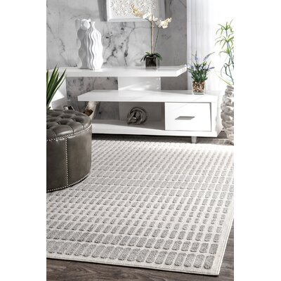 Ellingson Ivory/Gray Area Rug Rug Size: Rectangle 5 x 8