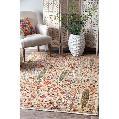 Marianna Olive/Red Area Rug Rug Size: Rectangle 8 x 10