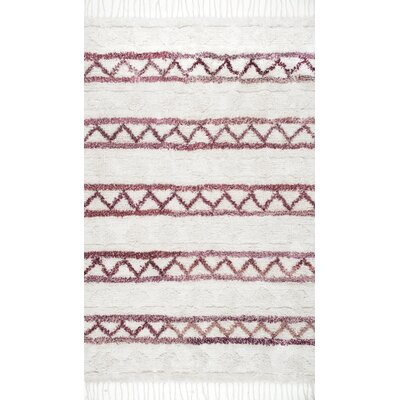 Couli Hand-Woven Ivory Area Rug Rug Size: 76 x 96
