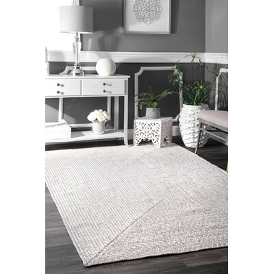 Quintana Hand Braided Ivory Indoor/Outdoor Area Rug Rug Size: Oval 5 x 8