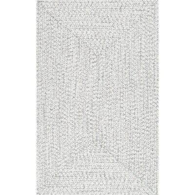 Quintana Hand Braided Ivory Indoor/Outdoor Area Rug Rug Size: Rectangle 5 x 8