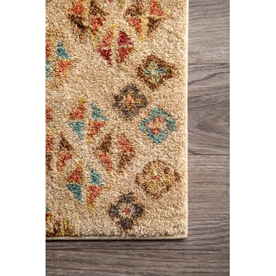Mataponi Beige Area Rug Rug Size: Rectangle 5 x 75