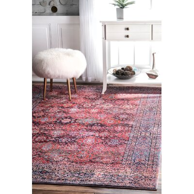 Tacony Pink Area Rug Rug Size: 53 x 79