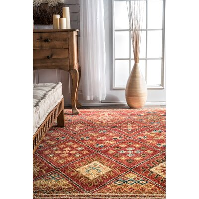 Matoaka Rust Area Rug Rug Size: Rectangle 8 x 10