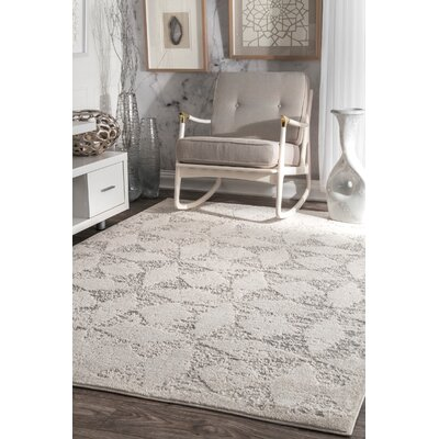 Ellender Ivory Area Rug Rug Size: Rectangle 76 x 96