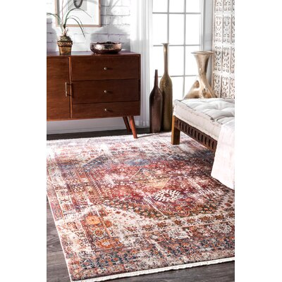 Shiv Rust Area Rug Rug Size: Rectangle 3 x 5