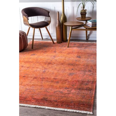 Mariah Orange Area Rug Rug Size: Rectangle 8 x 10