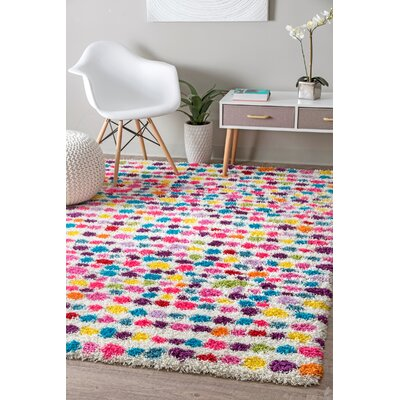Mira Red/Blue Area Rug Rug Size: Rectangle 53 x 76