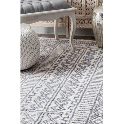 Valero Hand Tufted Ivory Area Rug Rug Size: Rectangle 5 x 8