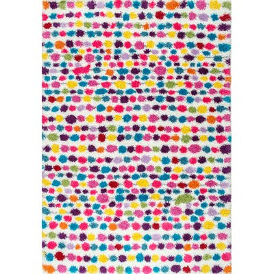 Mira Red/Blue Area Rug Rug Size: 53 x 76
