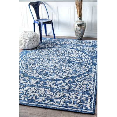 Brookville Blue Area Rug Rug Size: Rectangle 76 x 96