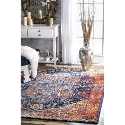 Masardis Pink/White Area Rug Rug Size: Rectangle 8' x 10'
