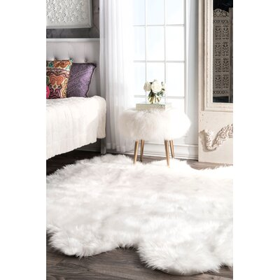 Arbour White Area Rug Rug Size: Rectangle 6 x 611