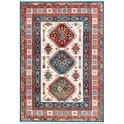 La Quinta Red/Burgundy/Blue Area Rug Rug Size: 9 x 12