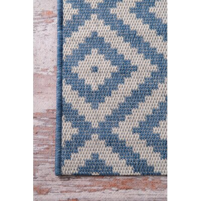 Elsberry Blue/Gray Area Rug Rug Size: Rectangle 76 x 109