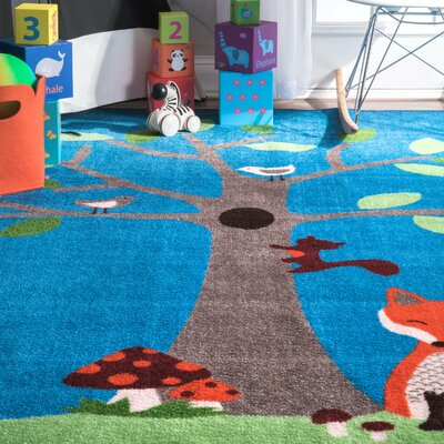 Fremont Blue Area Rug Rug Size: Rectangle 5 x 75