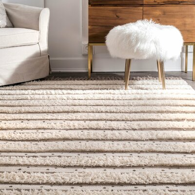 Samoset Hand Tufted Wool Ivory Area Rug Rug Size: Rectangle 5 x 8
