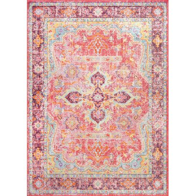 Montville Pink Area Rug Rug Size: Rectangle 56 x 83