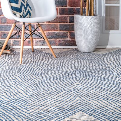 Bulkley Blue Indoor/Outdoor Area Rug Rug Size: Rectangle 63 x 92