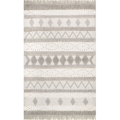 Lynch Hand Tufted Wool Ivory Area Rug Rug Size: Rectangle 3 x 5
