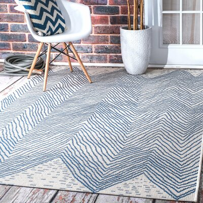 Baptist Mills Blue Indoor/Outdoor Area Rug Rug Size: Rectangle 76 x 109