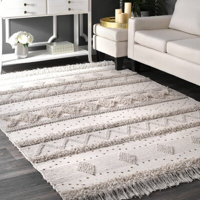 Lynch Hand Tufted Wool Ivory Area Rug Rug Size: Rectangle 5 x 8